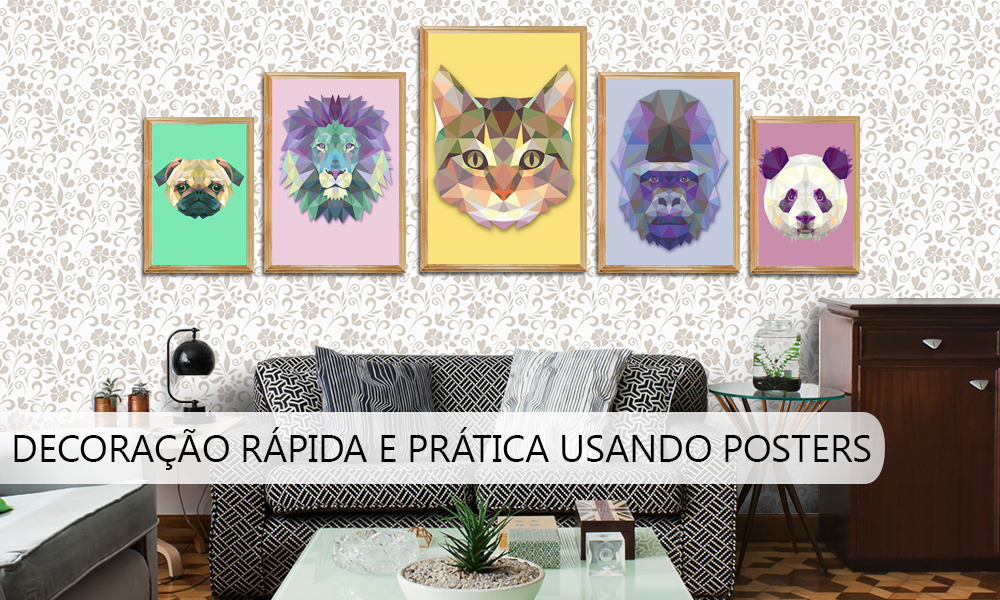Decoracao com posters