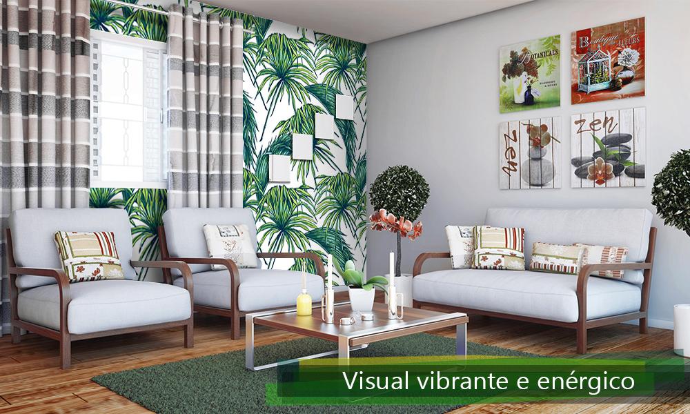 Visual vibrante e energetico