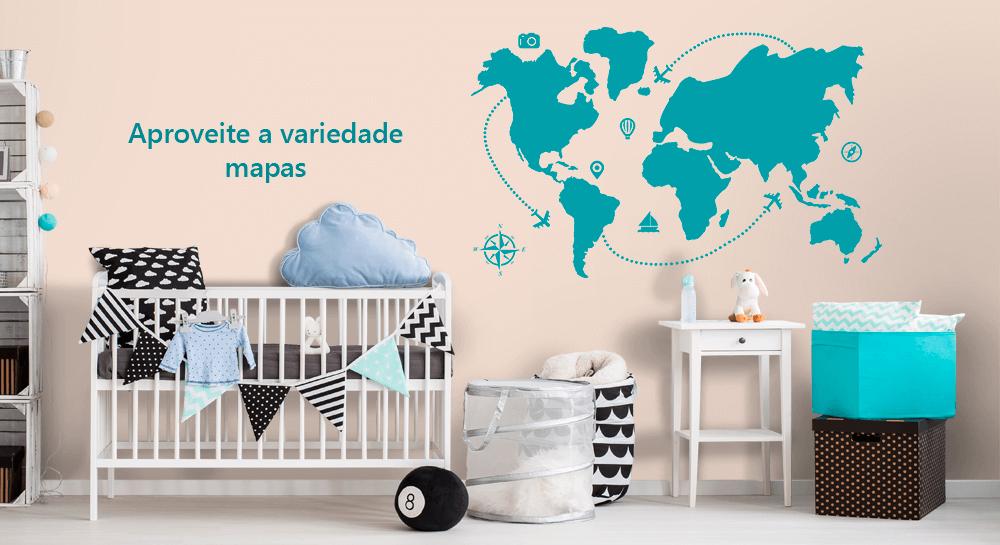 variedade de mapas