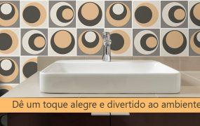 Revestimento geométrico no banheiro: Ideias para você se inspirar