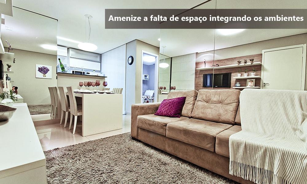 Ambientes integrados - decoraçao clean